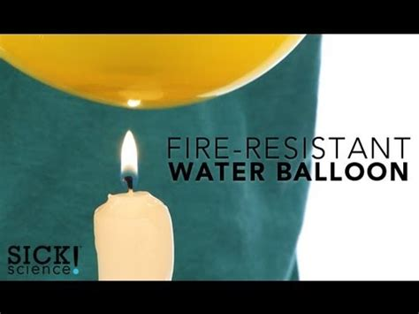 Fire Resistant Water Balloon - Sick Science! #122 - YouTube