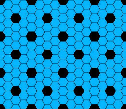 Sky Blue And Black Hexagon Tile Seamless Background