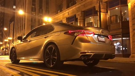2018 Toyota Camry xse night view in chicago - YouTube
