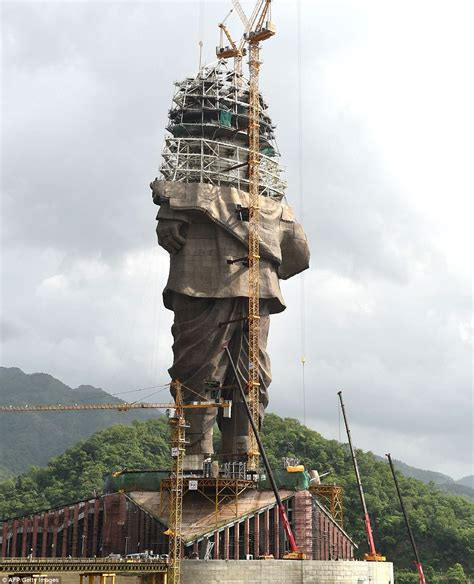 World's tallest statue only up to waist height of the