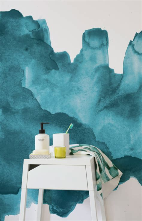 Trend : Painterly Watercolour Wallpaper - The Design Sheppard